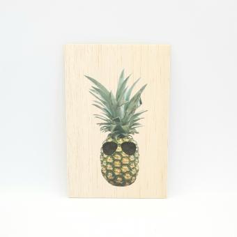 Houten fotokaart Ananas-bril
