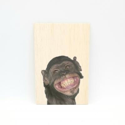 Houten fotokaart Aap