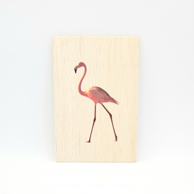 Houten fotokaart Flamingo 1
