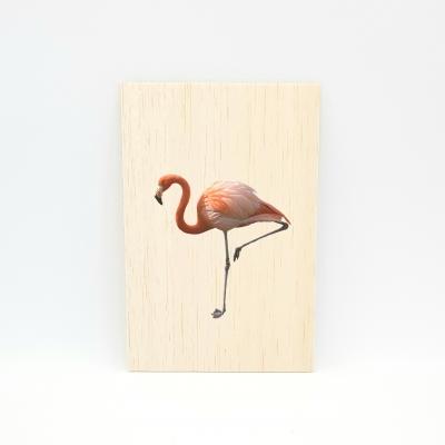 Houten fotokaart Flamingo 2