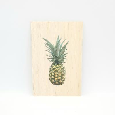 Houten fotokaart Ananas